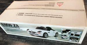 Carton voiture electrique pour enfant BMW Z8
