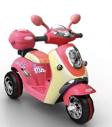 scooter pour enfant electrique rose