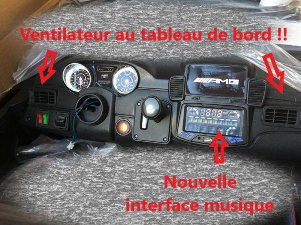 Voiture électrique enfant - Mercedes GLS 63 - tableau de bord