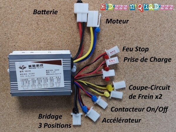 variateur controleur moto 36V 800W ZZZ800