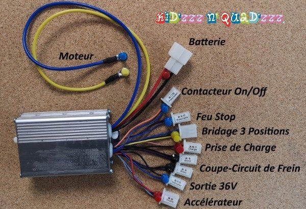 variateur contrôleur 36V 800W