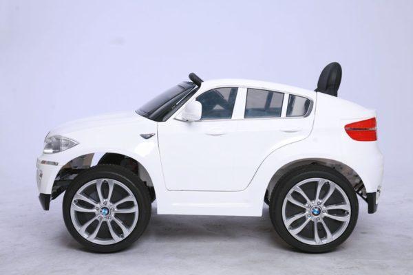 Voiture électrique pour enfant BMW X6 blanc pack Luxe - Vue de côté