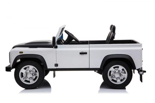 4x4 electrique enfant Land Rover Defender blanc