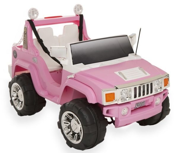 4X4 électrique enfant Hummer Girly'zzz 12V 2 places rose