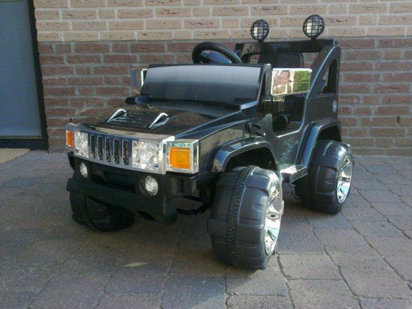 Voiture électrique Hummer 12V noir monoplace pour enfant