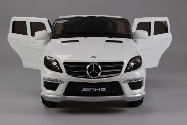 Voiture enfant Mercedes ML63 AMG blanc vue arrière