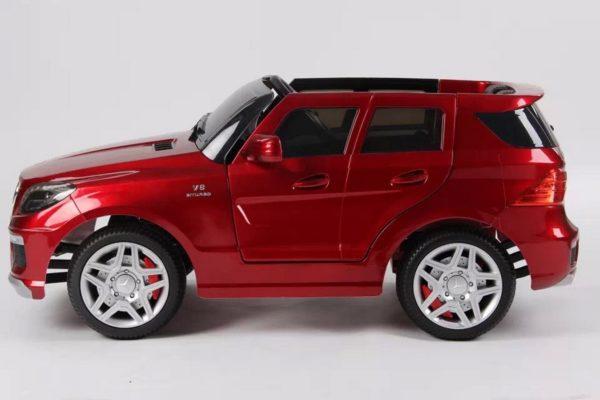 4X4 électrique Mercedes pour enfant ML63 AMG rouge metal vu de côté