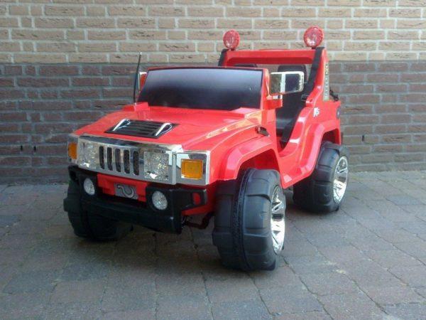 SUV 4X4 électrique pour enfant Hummer rouge 12V biplace