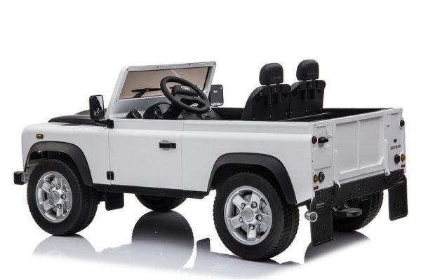 4x4 pour enfant 12V Land Rover defender blanc