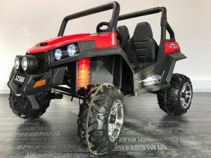 Buggy électrique enfant 12V Rouge 3 4 avant