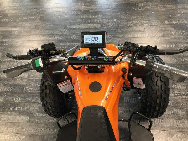 Quad électrique avec compteur