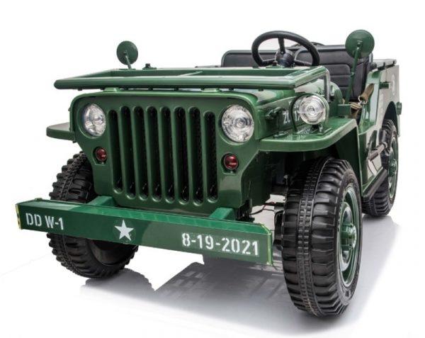 Jeep willys electrique enfant vert