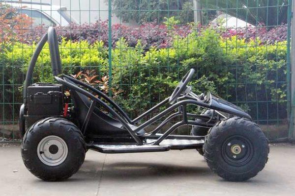 Kart électrique noir profil