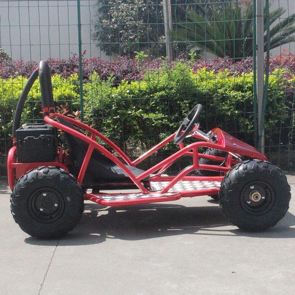 Kart électrique rouge profil