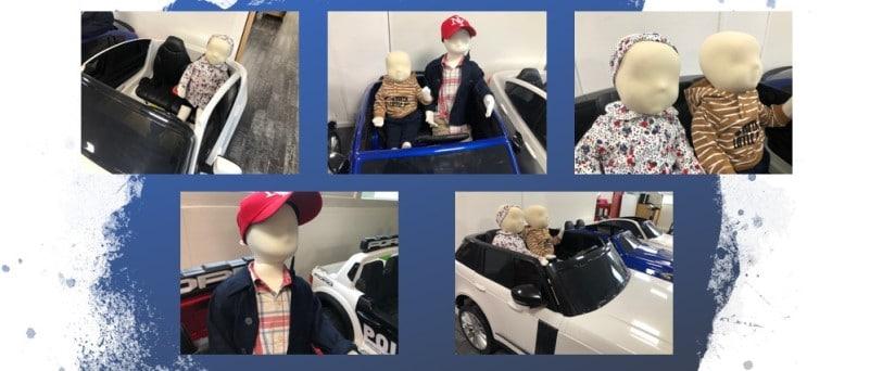 Mannequins pour voiture électrique enfant