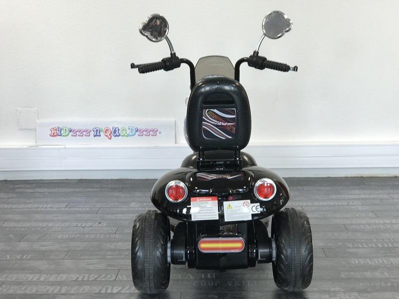 Moto électrique pour enfant vu arrière
