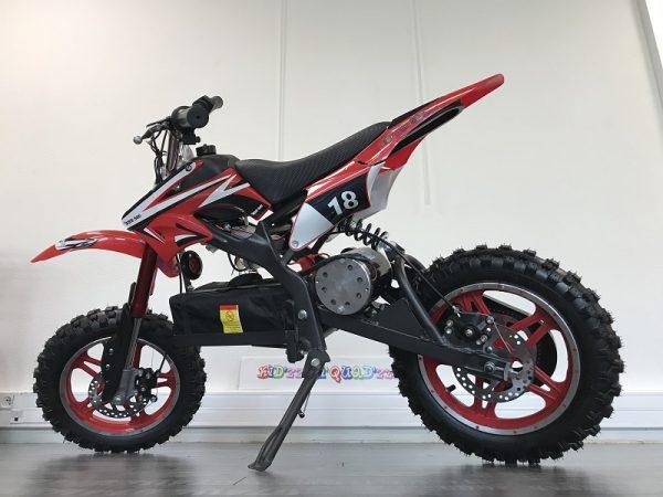 moto électrique enfant 36V rouge pour 8 ans