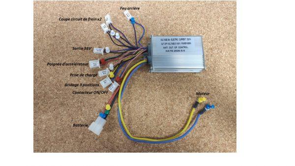 Variateur 36V 500W 3 fils