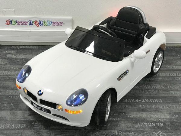 Voiture electrique bebe 12V – BMW Z8 blanc – 3-4 Dessus
