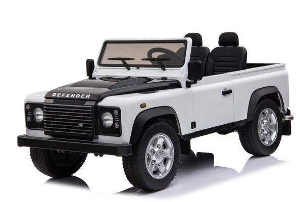 Voiture electrique enfant 2 places Land Rover Defender blanc