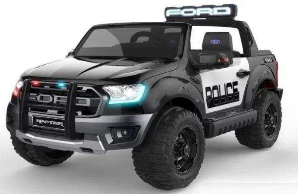 Voiture électrique Police Ford Ranger Raptor Noir