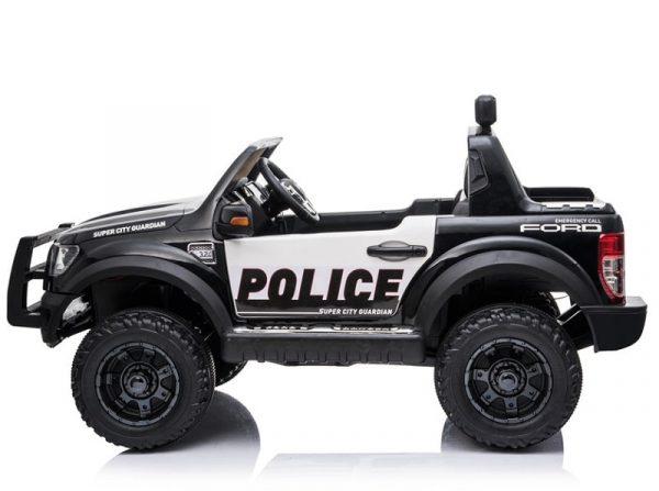 Voiture enfant 12V Ford Raptor Police noir