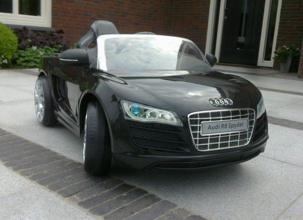 Voiture Audi électrique enfant R8 Spyder Noir 12V Monoplace