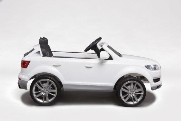 Voiture électrique enfant Audi Q7 blanc 12V - Vue de côté droite
