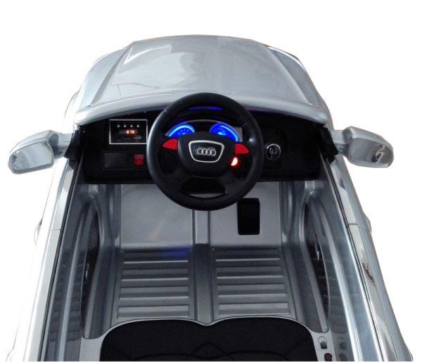 Voiture électrique enfant Audi Q7 gris metal 12V - Tableau de bord