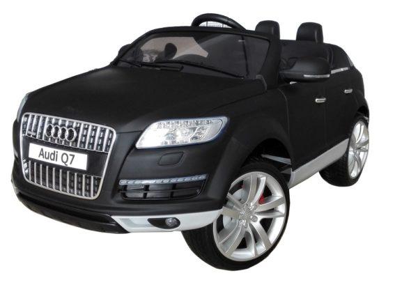 4X4 électrique enfant Audi Q7 noir mat 12V - Vue 3/4 avant