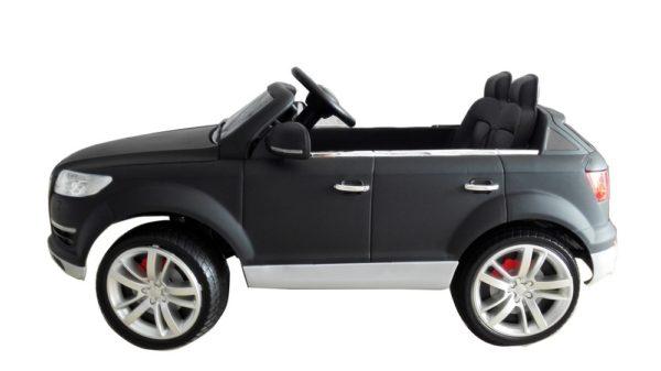 4X4 électrique enfant Audi Q7 noir mat 12V - Vue de côté