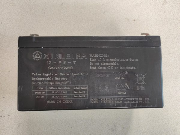 batterie 24V 7Ah gel plomb