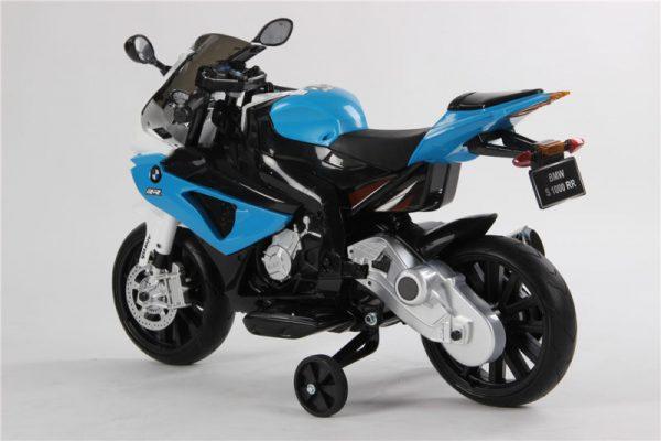 Moto électrique enfant BMW S1000RR - Bleue - 3/4 arrière