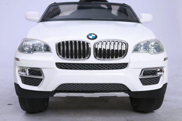 BMW X6 électrique blanc pour enfant vue avant