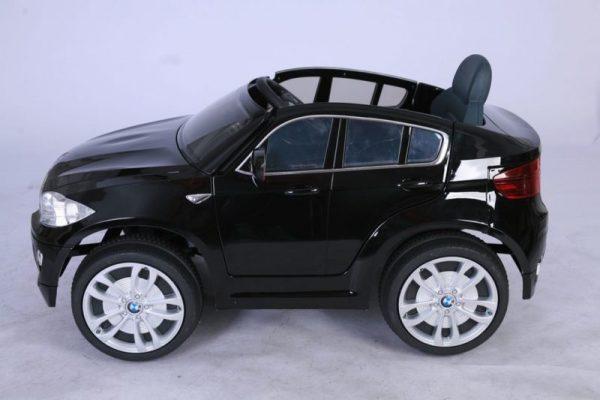 BMW X6 noir pour enfant - Electrique 12V - Vue de côté