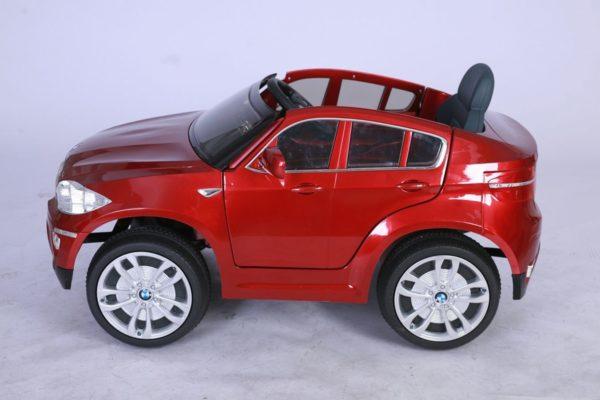 BMW X6 rouge pour enfant - Electrique 12V - Vue de côté