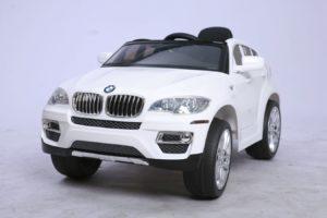 BMW voiture électrique enfant -X6 - 12V - Blanc