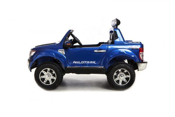 Ford Ranger électrique 12 volts bleue pour enfant vue de côté