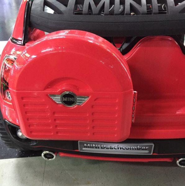 Voiture électrique Mini Cooper pour enfant - 12 V - Coffre rouge