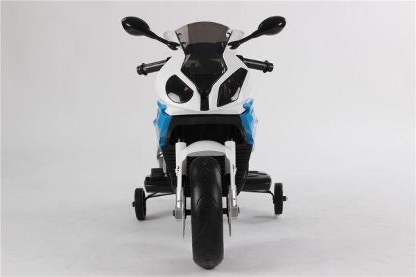 Moto électrique enfant BMW S1000RR - Bleue - Vue de face
