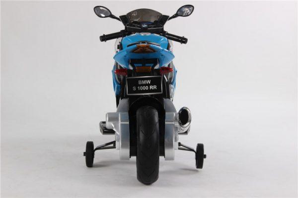 Moto électrique enfant BMW S1000RR - Bleue - vue arrière