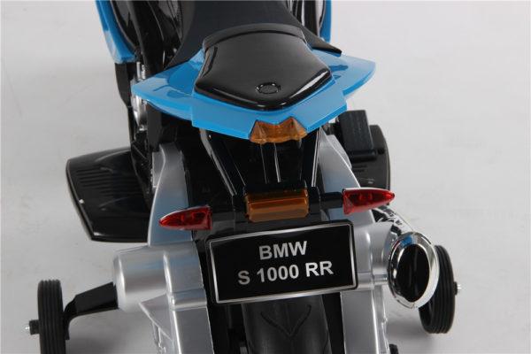 Moto électrique enfant BMW S1000RR - Détails plaque d'immatriculation