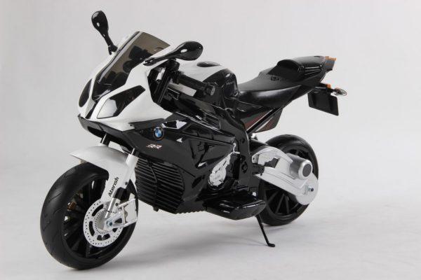 Moto électrique enfant BMW S1000RR - Noire - vue 3/4 avant