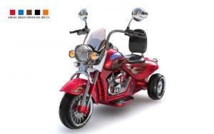 Moto électrique pour enfant Harley Davidson HL500 rouge vue 3/4 avant