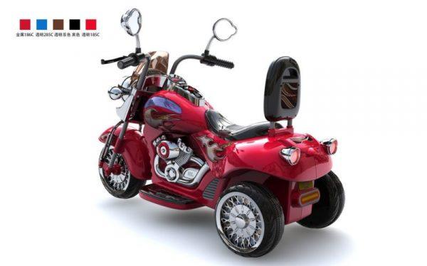 Moto électrique enfant Harley Davidson HL500 rouge vue 3/4 arrière