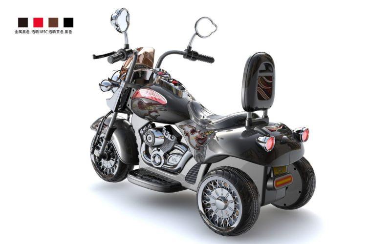 Moto électrique enfant Harley Davidson HL500 noire vue 3/4 arrière