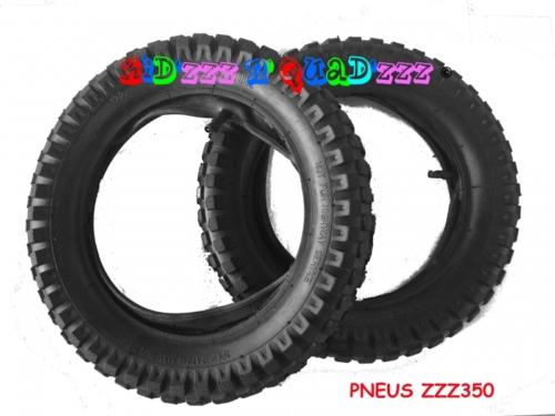 pneus pour moto électrique 12 1/2 x 2.75 avec chambre a air-lot-de-2-profil-crampon-1461842539