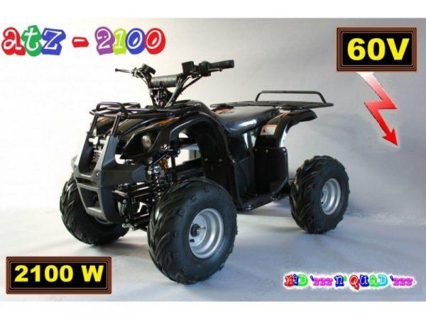 Quad électrique pour adulte 60V 2100W ATZ 2100 Noir vu de biais
