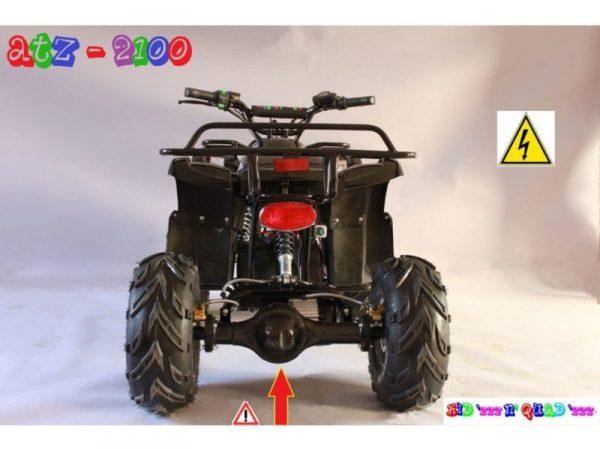 Quad électrique pour adulte 60V 2100W ATZ 2100 Noir vue arrière