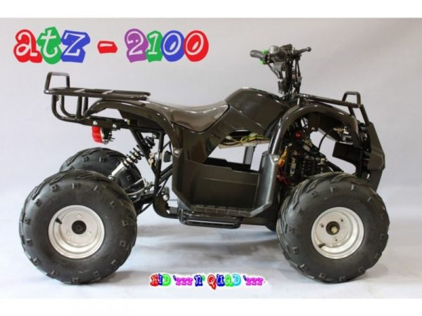 Quad électrique adulte 60V 2100W ATZ 2100 noir vu de profil